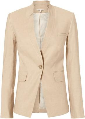 Veronica Beard Upcollar Linen Dickey Jacket