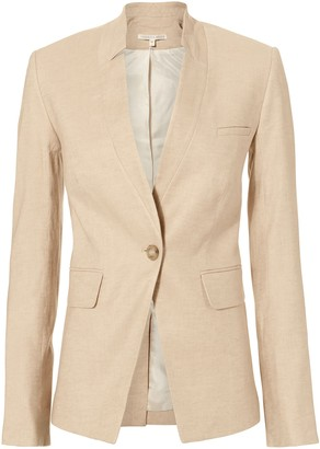 Veronica Beard Upcollar Single Breasted Dickey Jacket