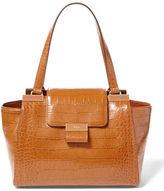 Lauren Ralph Lauren Lynwood Medium Croc-Embossed Leather Shopper