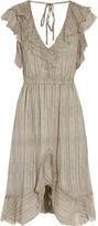 L'Agence Sophie ruffled silk-chiffon dress
