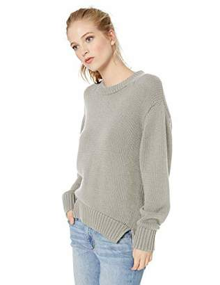 Amazon Brand - Daily Ritual Women's 100% Cotton Chunky Long-Sleeve Crew Pullover Sweater