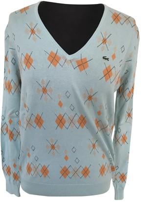 Lacoste Blue Cotton Knitwear for Women Vintage