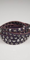 Stud Cuff in Purple/Silver