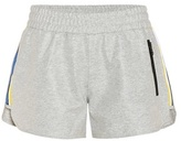 P.E Nation Five On Three Striped Coated Cotton Shorts