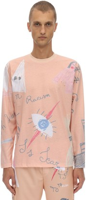 Klsh   Kids Love Stain Hands Long Sleeve Print Cotton Jersey T-shirt