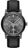 Burberry Mens The City Gray Stainless Steel Watch