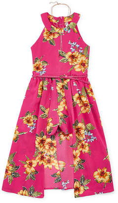 Knitworks Knit Works Girls Embroidered Sleeveless Romper - Big Kid