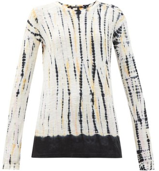 Proenza Schouler Tie-dyed Cotton-jersey Long-sleeved T-shirt - Pink Multi