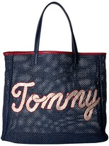 Tommy Hilfiger Tommy Straw Tote Tote Handbags