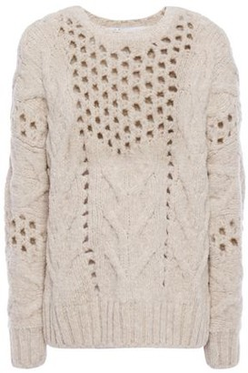 IRO Fordon Open-knit Wool-blend Sweater