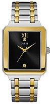 GUESS Two-Tone Square Dress Watch