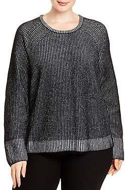 Eileen Fisher Plus Ribbed Organic Cotton Sweater