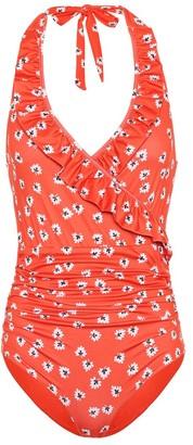 Ganni Columbine floral swimsuit