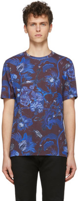 Paul Smith SSENSE Exclusive Blue and Purple Goliath Floral T-Shirt