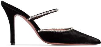 Amina Muaddi Gilda 95mm crystal embellished mules