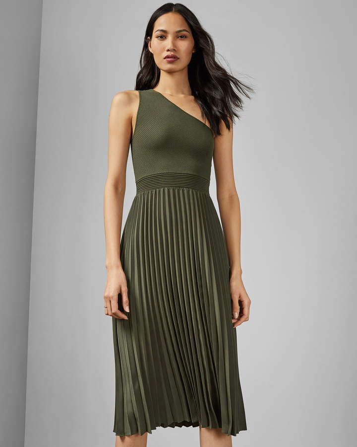 Ted Baker MIRIOM Asymmetric knitted midi dress