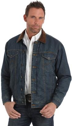 Wrangler Men's Big & Tall Concealed Carry Blanket Lined Denim Jacket