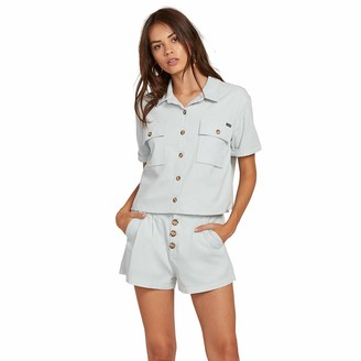Volcom Junior's Women's Re Cording Boxy Short Sleeve Shirt