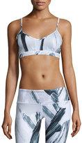 Alo Yoga Goddess Sports Bra, Modernist Black/White