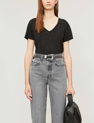 AllSaints Emelyn Shimmer cotton T-shirt