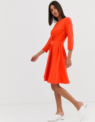 2nd Day June belted swing dress-Red