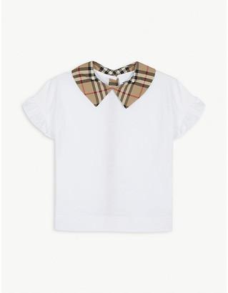 Burberry Dita check collar T-shirt 3-14 years