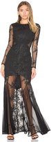 Donna Mizani Embroidered Mermaid Gown