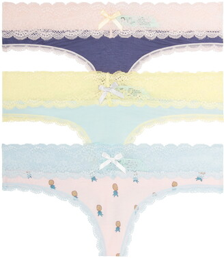 Honeydew Intimates Ahna 3-Pack Lace Thong