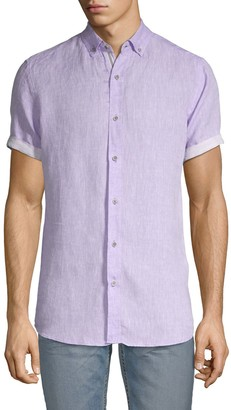 Report Collection Heritage Short-Sleeve Linen Shirt