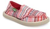 Sanuk Girl's Lil Donna Blanket Sneaker