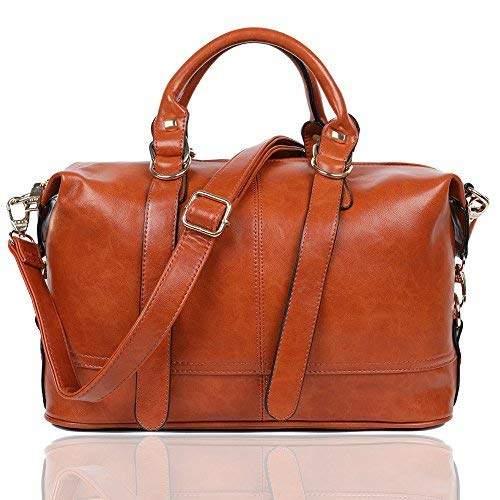 6970d1532f25 EGOGO PU Leather Handbag Shoulder Bag for Women Work School and Shopping  Messenger Bag E522-7