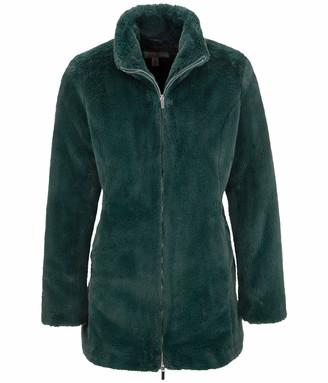 Tribal 2 Way Zipper Long Coat-Emerald