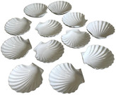 One Kings Lane Vintage French Shell Serving Plates - Set of 12 - Eat Drink Home - white