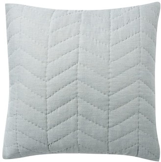 Pottery Barn Willow Handcrafted Linen/Cotton Twill Quilted Shams