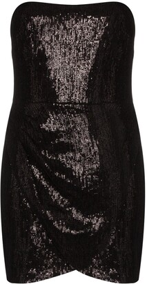 HANEY Olivia strapless sequin mini dress
