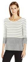 Calvin Klein Women's 3/4 Slv Mixed