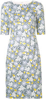 Carolina Herrera floral etched pencil dress - women - Cotton/Spandex/Elastane - 2