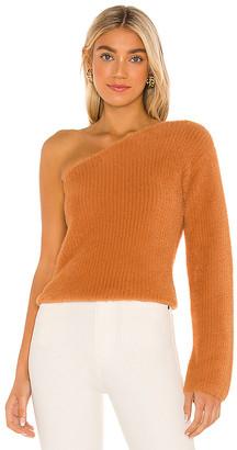 Majorelle Fuzzy One Shoulder Sweater