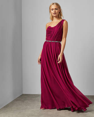 Ted Baker One Shoulder Maxi Dress