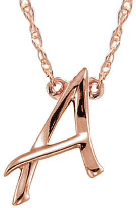 Jane Basch 14K Rose Gold A-Z Initial Necklace