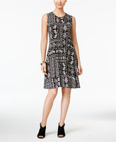 Style&Co. Style & Co Style & Co Petite Printed Fit & Flare Swing Dress, Created for Macy's