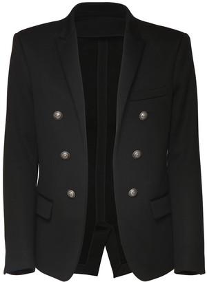 Balmain Collection Fit Cotton Jersey Blazer