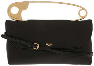 Moschino Safety Pin Flap Over Shoulder Bag