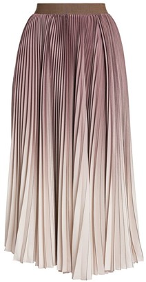 Agnona Plisse Degrade Midi Skirt
