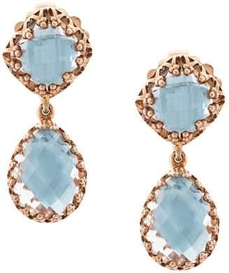 Larkspur & Hawk Jane small sky foil drop earrings