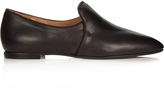 The Row Alys leather loafers