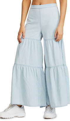 Free People Stargazing Tiered Flare Pants