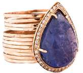 Jacquie Aiche 14K Tanzanite & Diamond Waif Ring