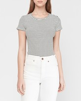 Express Striped Crew Neck Slim Tee