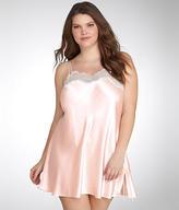 Oscar de la Renta Silky Charmeuse Lace Chemise Plus Size